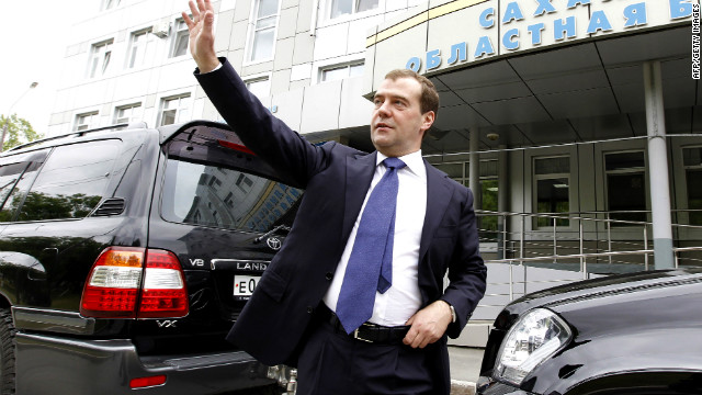 Russian Prime Minister Dmitry Medvedev, here Tuesday on Sakhalin, provoked an angry reaction from Tokyo.