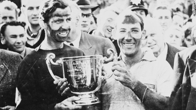 Moss' two British Grand Prix successes both came at Aintree near Liverpool. His 1957 win was in tandem with teammate Tony Brooks.