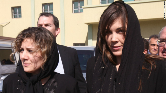Australian lawyer Melinda Taylor (R) and Lebanese interpreter, Helen Assaf (L), seen after their release on July 2, 2012.