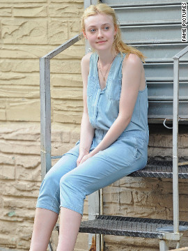 "Dakota Fanning films ""Very Good Girls"" in New York City."