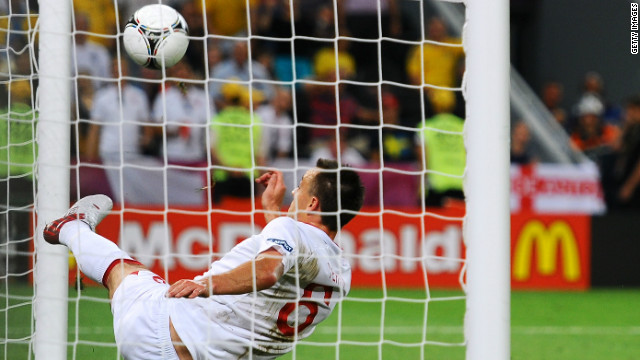 At the recent Euro 2012 tournament, England were involved in controversy for a third time. Co-hosts Ukraine needed to beat England to advance from the group stage, but fell behind to a Wayne Rooney header. Artim Milevskiy thought his shot had crossed the line before John Terry was able to hook it clear, but once again no goal was given and Ukraine crashed out.