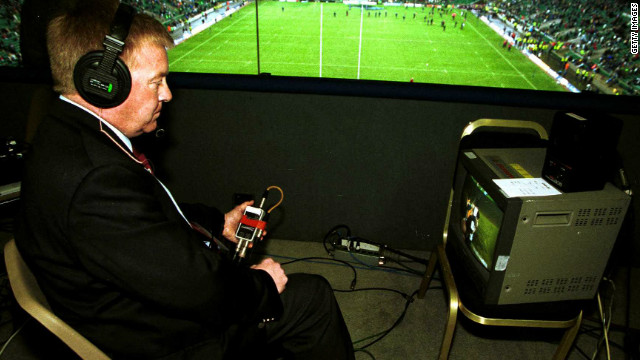 "Both rugby codes -- league and union -- use a video referee to rule on whether a try should be awarded. The video referee was first introduced at the rugby league Super League World Nines tournament in 1996 and the ""Television Match Official"" is widely used in possible point-scoring situations."