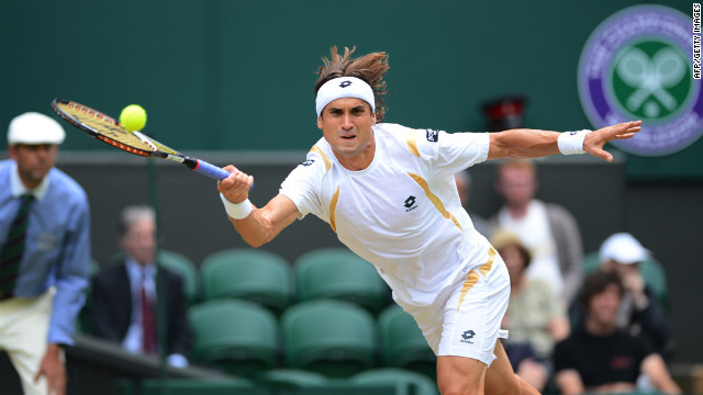 Ferrer plays a forehand shot during his men's singles quarter-final match against Murray on Wednesday.