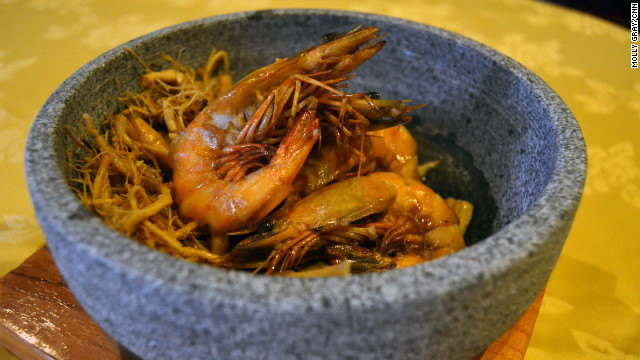 Szechuan-style king prawns are one of Club Qing's most popular dishes.