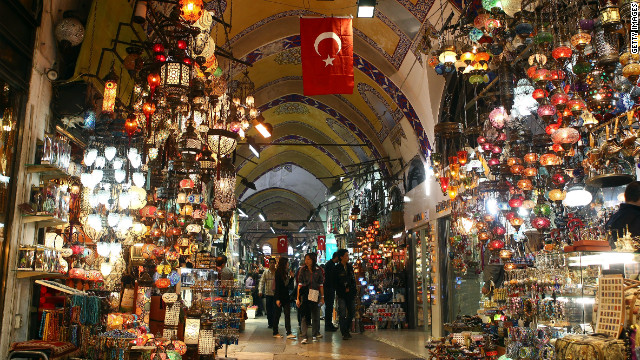 Turkey has been a center of trade for centuries. Pictured here is Istanbul's Grand Bazaar.