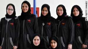 A team photo of the women of Jeddah United.