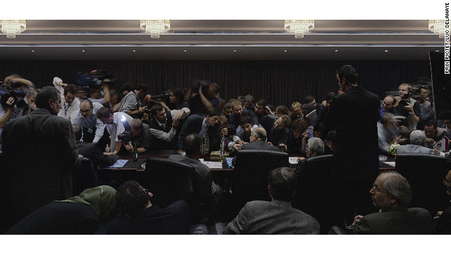 "Luc Delahaye has won the fourth <a href='http://www.prixpictet.com/' target='_blank'>Prix Pictet</a> award for a series of photos shot from 2008 to 2011. This image, titled ""132nd Ordinary Meeting of the Conference,"" was taken at OPEC headquarters in Vienna, Austria. Eleven other photographers had been shortlisted for the Prix Pictet -- an award in photography and sustainability -- by entering a series matching this year's theme of ""Power."""