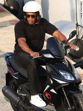 Dr. Dre rides around the streets of Saint-Tropez.