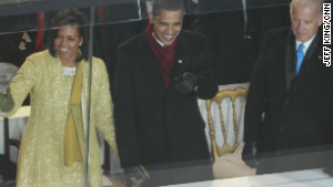 Michelle Obama wears Isabel\'s creation during her husband\'s inauguration
