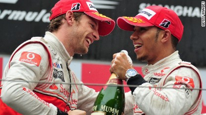 McLaren teammates Lewis Hamilton and Jenson Button