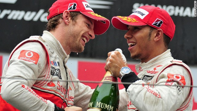Lewis Hamilton and Jenson Button are former McLaren teammates.