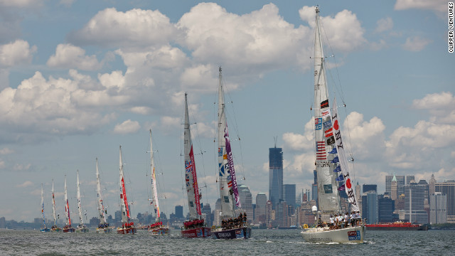 The line-up this year consists of ten identical 68-foot long Clipper yachts, which are all sponsored by different cities around the world