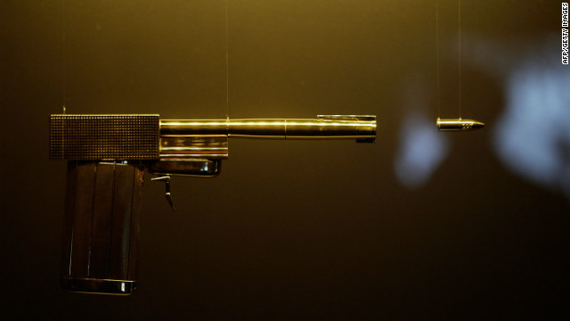 The golden gun, used by Bond Villian Francisco Scaramanga in &quot;The Man With The Golden Gun,&quot; is located, naturally, in the Gold Room, which celebrates the gold anniversary of Bond on film.