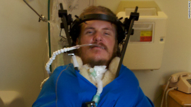 Chad Madden is receiving treatment in Atlanta after a March accident caused him to be paralyzed from the neck down. His parents lost their Idaho home in a June wildfire.
