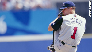 R.A. Dickey won a bronze medal pitching for the U.S. Olympic team in 1996.