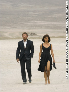 Camille Montes, played by Olga Kurylenko, with Daniel Craig as Bond in 2008's &quot;Quantum of Solace.&quot; 