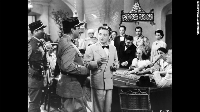 "Peter Lorre is Ugarte, an unsavory fellow who sells ""letters of transit"" for profit."