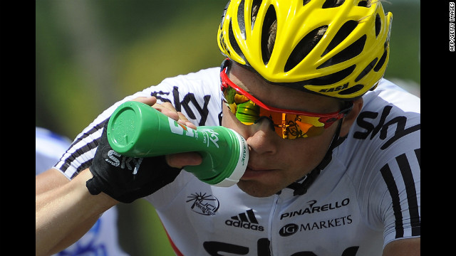 Norway's Edvald Boasson Hagen takes a drink during the ride Saturday.