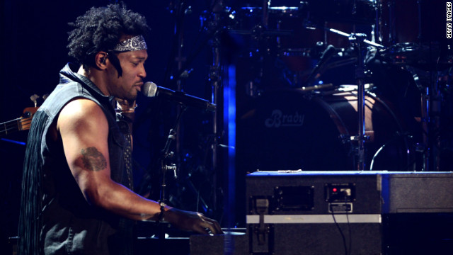D'Angelo, seen here performing at the 2012 BET Awards, took to the stage at the Essence Music Festival.