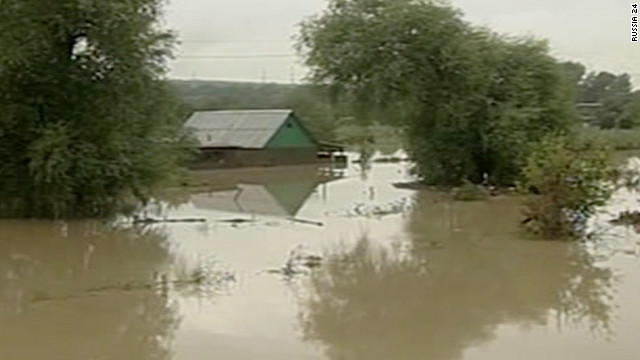 Flash floods from heavy rain in the Krasnodar Krai region in southern Russia have killed dozens of people.