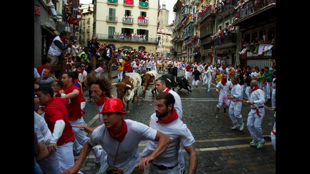Un hombre de 73 años, el primer herido por asta de toro en San Fermín