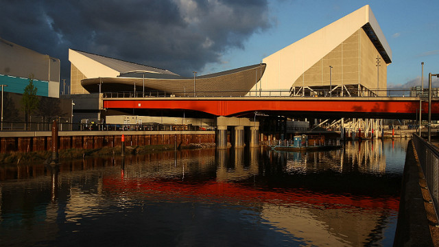 The aquatic center, designed by British architect Zaha Hadid, is another venue with temporary seating. After the Games it's &quot;wings&quot; will be removed shrinking the capacity from 15,000 to 2,500 as it turns into a facility for the local community. 