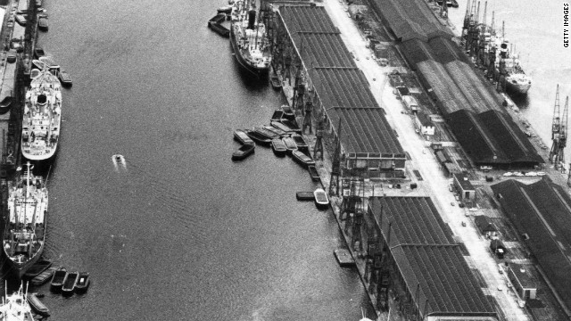 But with the emergence of bigger cargo ships in the 1960s, the shipping industry was forced to move to deep-water ports just outside London in Essex. By the 1970s, London's Docklands had become a deserted wasteland.