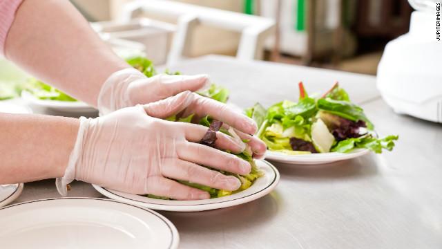 Types of latex gloves preparing food