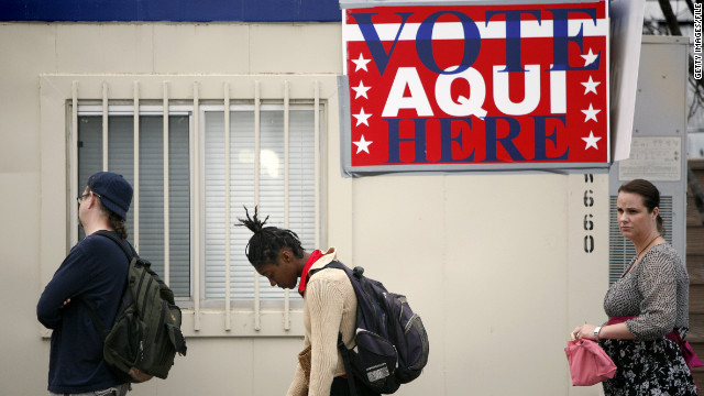 Texans line up to vote in the 2008 presidential primary. Texas is among eight states to require official photo identification at polling stations.