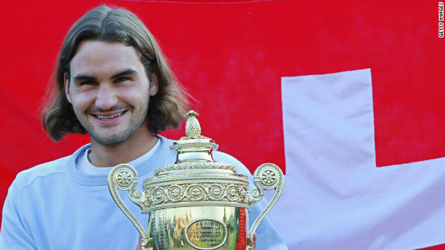 Five years later Federer picked up his first men's singles title at SW19, defeating Australian Mark Philippoussis in straight sets.