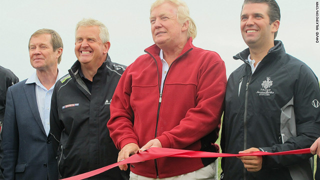 Trump Opens Controversial 150m Golf Course In Scotland