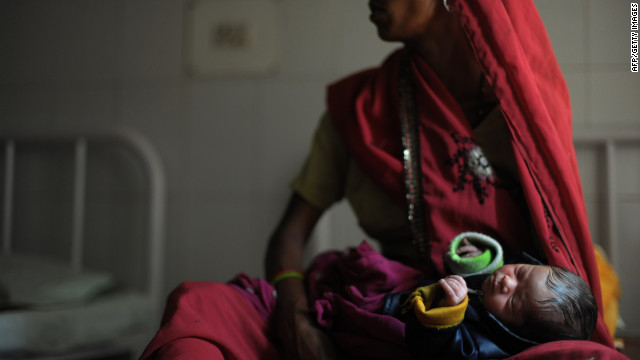 A newborn in Mall, India, last October. There are 56,000 maternal deaths in India each year.