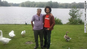Yashar Khameneh and his father in Holland in August. 