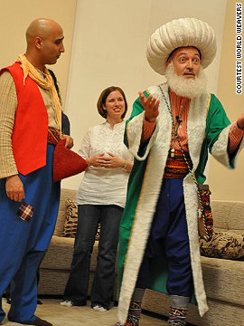 It's not all religious. Entertainers put on a performance during a &quot;Music and Henna&quot; night on the &quot;Muslim for a Month&quot; tour.