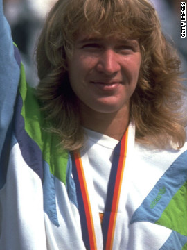 "Graf's gold medal in Seoul in 1988 followed her victories in all four grand slams that year, the so-called ""Golden Slam."""