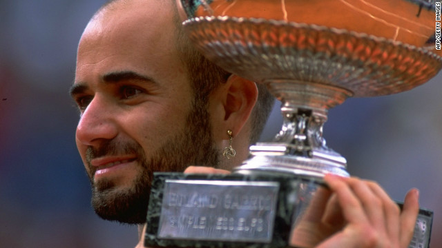 When Agassi won the French Open in 1999 he completed the set of winning all four grand slams and an Olympic gold medal. Only Rafael Nadal has also achieved this feat in the men's game.