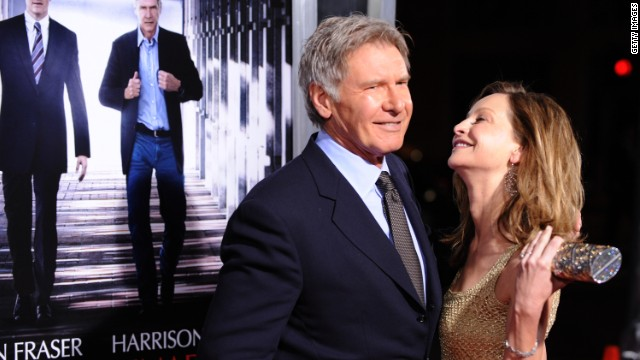 "Harrison Ford and Calista Flockhart arrive at the premiere of CBS Films' ""Extraordinary Measures"" in 2010. The pair married that same year."