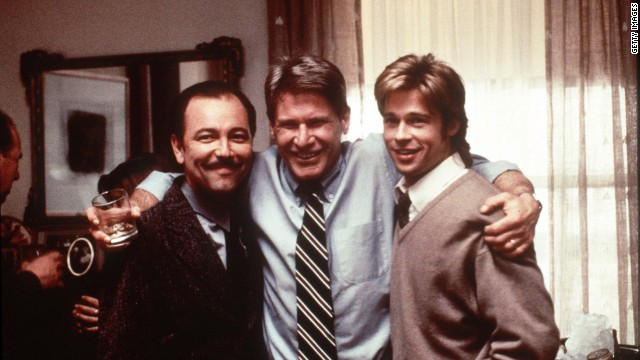 Ruben Blades, Harrison Ford and Brad Pitt starred in the movie &quot;The Devil's Own&quot; in 1997.