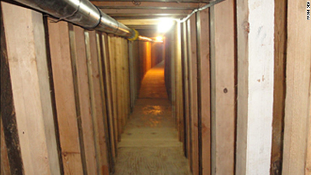 Federal drug agents discovered a 240-yard tunnel linking buildings in Mexico and Arizona.