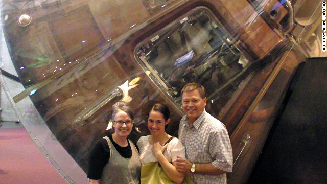 "Wolfram details his adventure in his memoir, ""Splashdown."" He recently took his family to Washington's Smithsonian National Air and Space Museum where the Apollo 11 capsule is on display."
