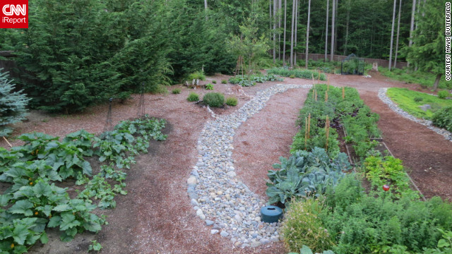 "Mavis plans on growing 2,000 pounds of food this year from her 1.25-acre backyard in Gig Harbor, Washington. ""The way I see it, if the pilgrims could do it, so can you. So can anyone."""