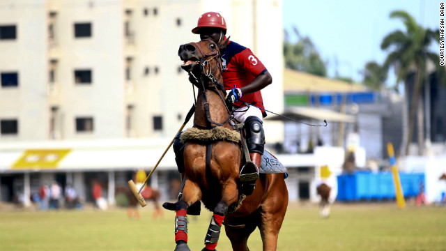 A player at the Ikoyi Polo Club in Lagos. &quot;In Nigeria, it's a sport for the elite,&quot; said photographer Hafsah Daba.