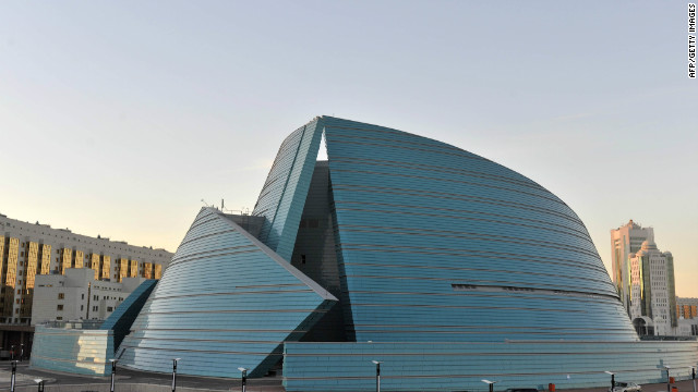 """Nazarbayev used to joke that the building was right in front of his residence, and that the project's construction site - and us, of course - were always under his control,"" says architect Manfredi Nicoletti who designed the Central Concert Hall."