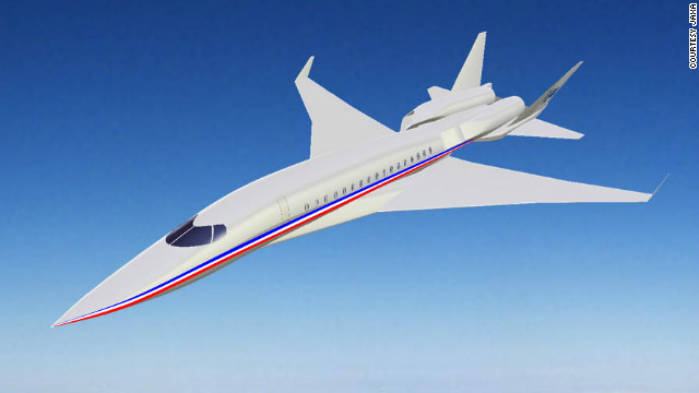 A rendering of a proposed supersonic passenger jet by the Japan Aerospace Exploration Agency (JAXA).