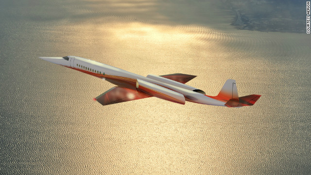 A rendering of the Aerion SBJ, a proposed eight to 12-passenger business jet whose backers predict it will enter service by 2020.