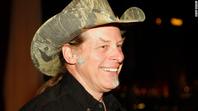 "Rock star Ted Nugent, a gun-rights activist, has endorsed Mitt Romney for president. He drew wide censure, and a visit from the Secret Service, after a speech from a concert stage in April, where he said, ""If Barack Obama becomes the president in November again, I will either be dead or in jail by this time next year."""