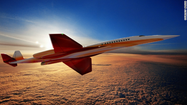 Another rendering of the Aerion SBJ. Its backers promise the craft will &quot;herald a return to supersonic civil flight without Concorde's environmental and economic drawbacks.&quot; If built, the business jet would fly at speeds up to Mach 1.6, but is optimized for cruise at both high subsonic and supersonic speeds.