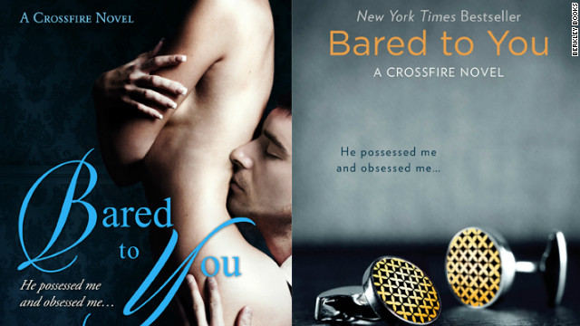 "Berkley Books toned down the cover art on Sylvia Day's ""Bared to You"" when they took over the title and reissued it in May 2012, just one month after she self-published the novel."