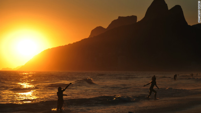 Catch the sunset in Ipanema, Rio de Janeiro. 