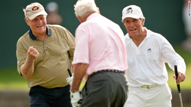 "He became one of golf's ""Big Three"" along with Jack Nicklaus and Gary Player, a legendary trio that had the honor of the ceremonial opening tee shot at the 2012 Masters at Augusta."